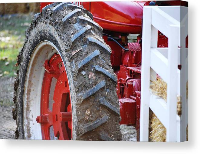 Tractor Canvas Print featuring the photograph Pulling For The Farm by Peter McIntosh