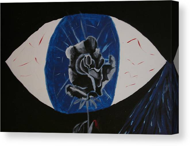 Rose Canvas Print featuring the painting Rose by Andrew Corl