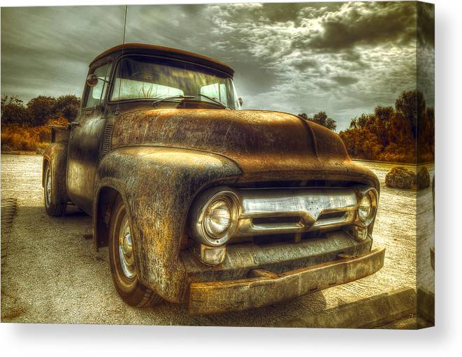Rust Canvas Print featuring the photograph Rusty Truck by Mal Bray