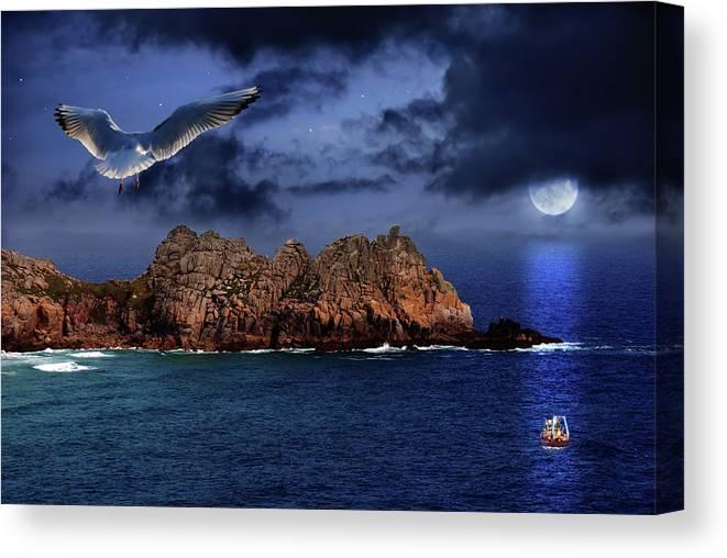 Beautiful Canvas Print featuring the photograph Seagull Flight by Jaroslaw Grudzinski