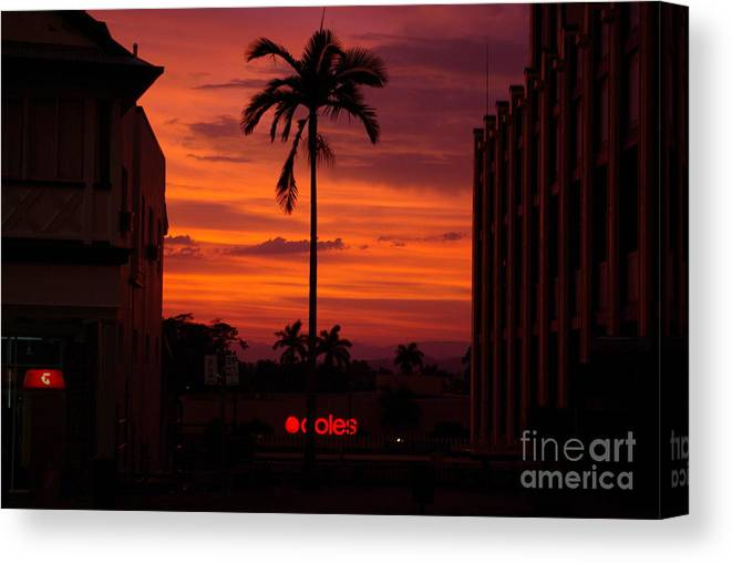 Innisfail Canvas Print featuring the photograph Solitary Passage by Kerryn Madsen- Pietsch