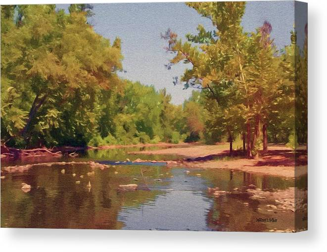 Creek Canvas Print featuring the painting Spavinaw Creek by Jeffrey Kolker
