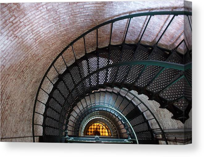 Lighthouse Canvas Print featuring the photograph Staircase by Patrick Flynn