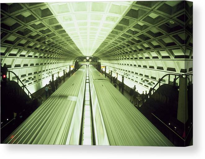 Train Canvas Print featuring the photograph Subway by Wes Shinn