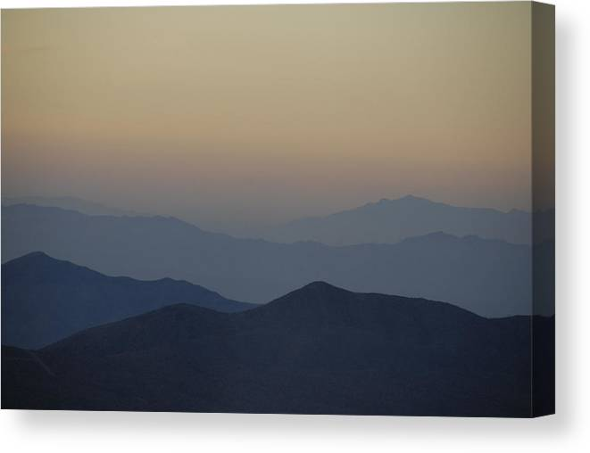 Mountains Canvas Print featuring the photograph Sunset Fade by Jody Lovejoy