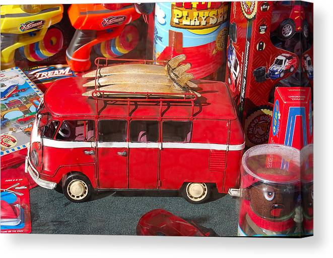 Photography Canvas Print featuring the photograph Surf Bus by Heather S Huston