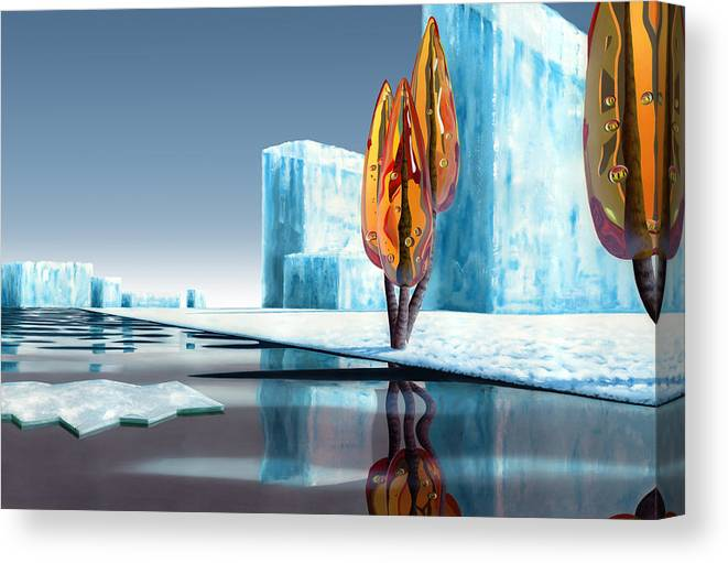 Architecture Canvas Print featuring the painting Taxus Glacialis by Patricia Van Lubeck
