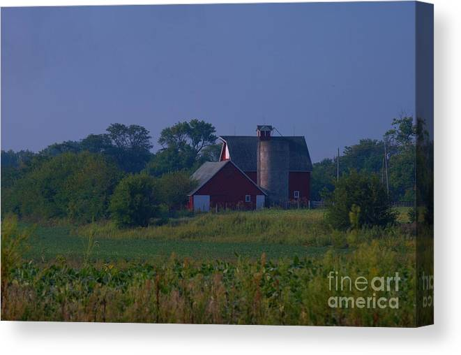 Canvas Print featuring the photograph The Red Barn by Michelle Hastings