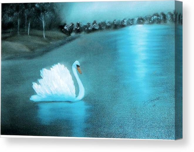 Swan Canvas Print featuring the painting The Swan by Felix Turner