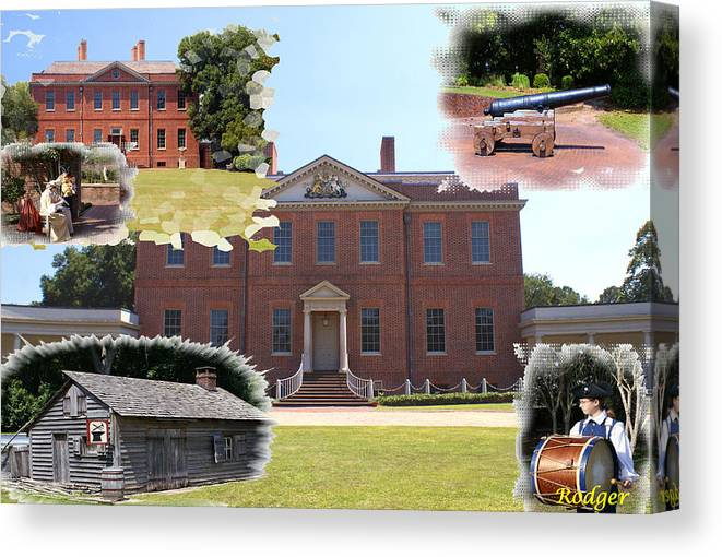 Tryon Palace Canvas Print featuring the photograph Tryon Palace Experience by Rodger Whitney