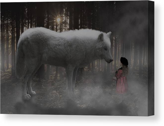 Surreal Art Canvas Print featuring the digital art Unexpected Ally by Barroa Artworks