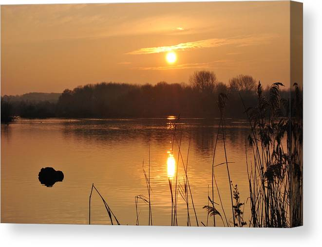 Lake Canvas Print featuring the photograph Upon Golden Ponds by Andrew Baxter