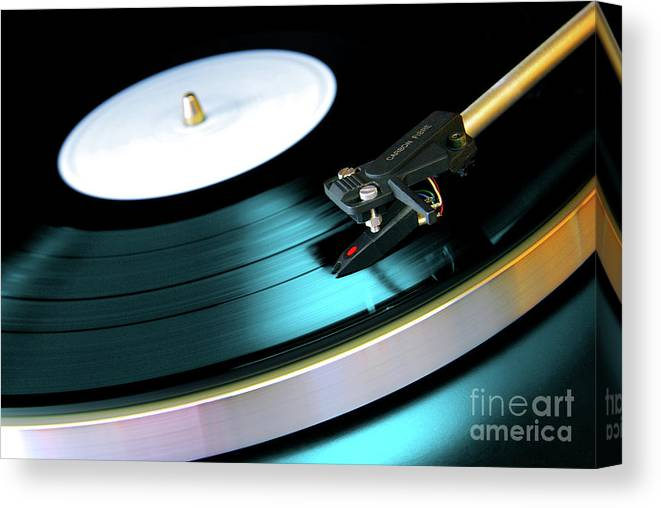 Abstract Record Player Art