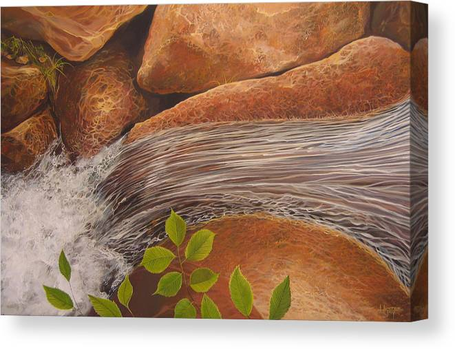 Water Canvas Print featuring the painting Water's Edge by Hunter Jay