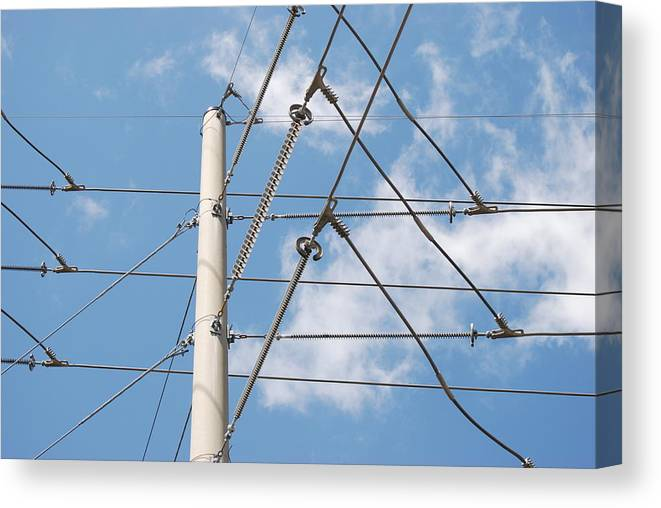 Sky Canvas Print featuring the photograph Wired Sky by Rob Hans