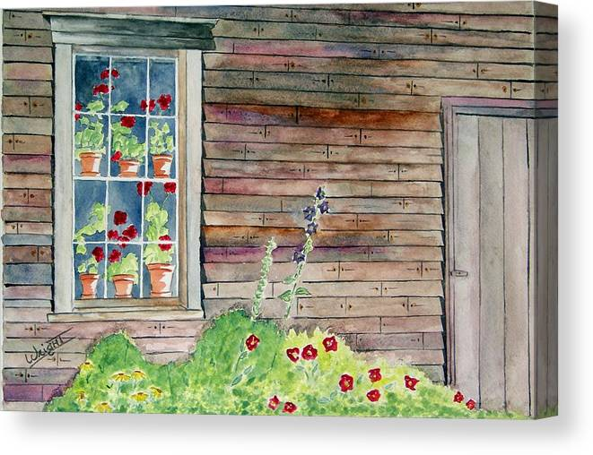 Maine Art Canvas Print featuring the painting Wyeth House In Tempera Paint by Larry Wright