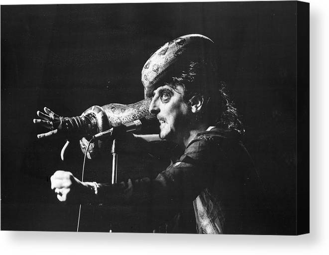 People Canvas Print featuring the photograph Alice Cooper At Msg by Fred W. McDarrah