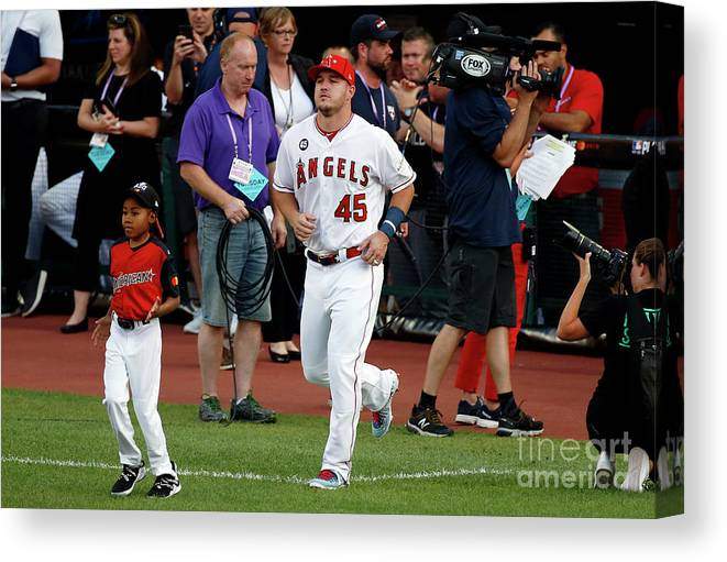 People Canvas Print featuring the photograph 2019 Mlb All-star Game, Presented By 2019 by Kirk Irwin