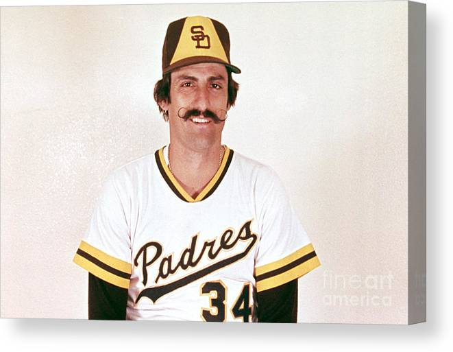 Rollie Fingers Canvas Print featuring the photograph Mlb Photos Archive 6 by Mlb Photos