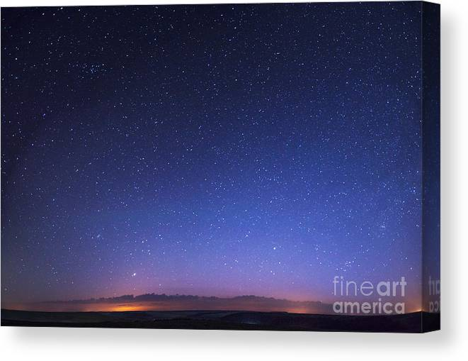Atmosphere Canvas Print featuring the photograph Deep Sky Astrophoto by Standret