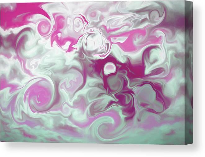 Canvas Print featuring the digital art Swirly Skies by Cindy Greenstein