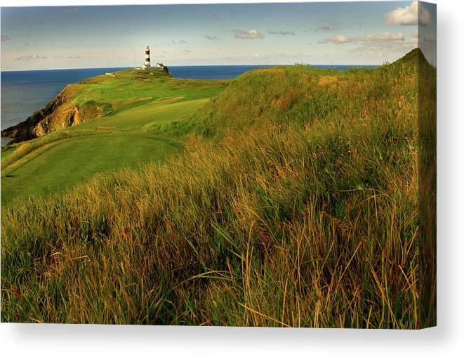 Scenics Canvas Print featuring the photograph The Old Head Golf Links, Kinsale by E J Carr