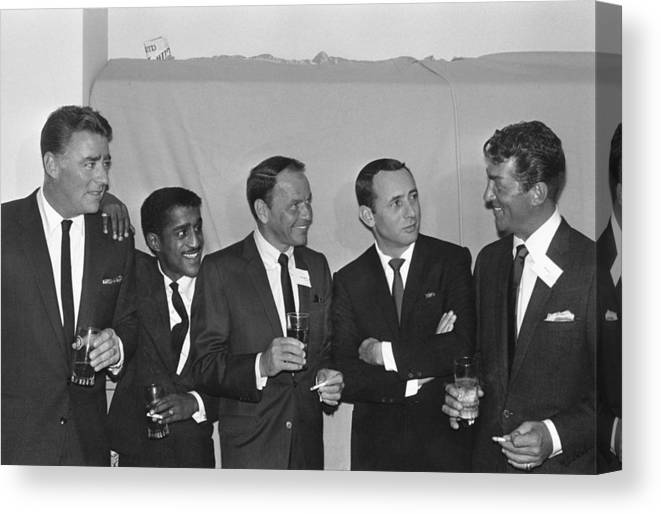 Singer Canvas Print featuring the photograph The Usual Rat Pack by Jack Albin