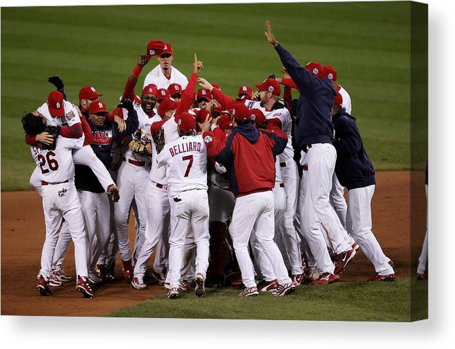 St. Louis Cardinals Canvas Print featuring the photograph World Series Game 5 Detroit Tigers V by Elsa