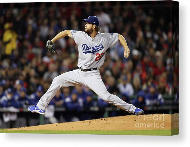 People Canvas Print featuring the photograph World Series - Los Angeles Dodgers V by Maddie Meyer