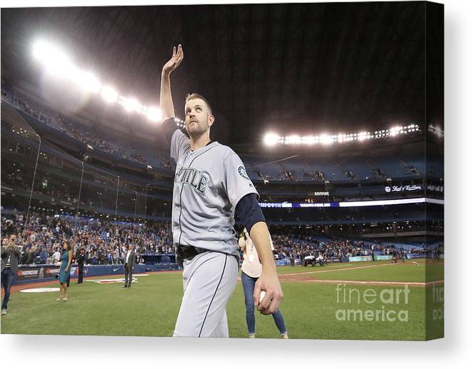 Three Quarter Length Canvas Print featuring the photograph James Paxton by Tom Szczerbowski