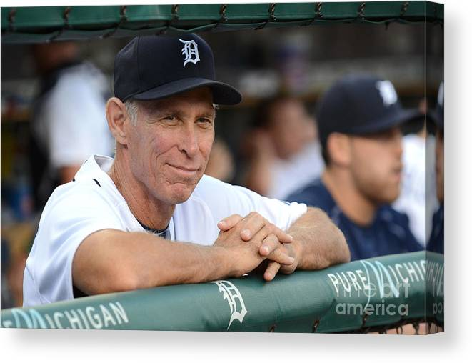 People Canvas Print featuring the photograph Alan Trammell by Mark Cunningham