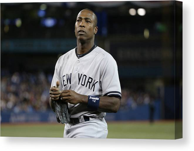 Alfonso Soriano Canvas Print featuring the photograph Alfonso Soriano by Tom Szczerbowski