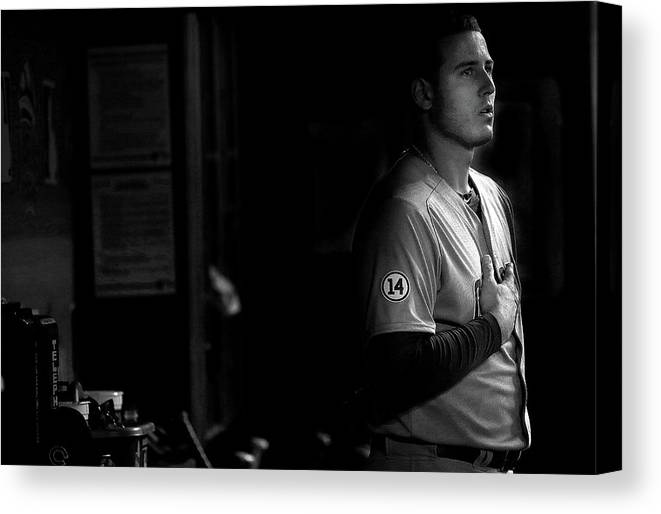 People Canvas Print featuring the photograph Anthony Rizzo by Mike Ehrmann