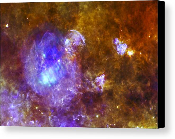 3scape Photos Canvas Print featuring the photograph Life And Death In A Star-forming Cloud by Adam Romanowicz