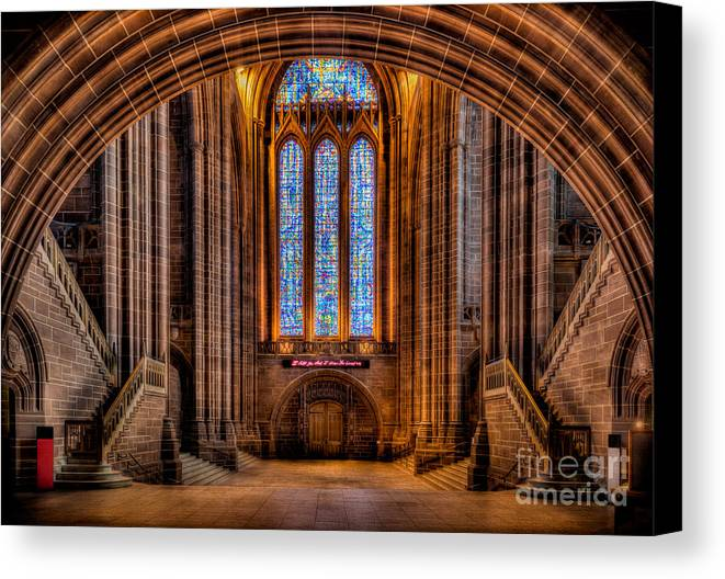 British Canvas Print featuring the photograph Cathedral Window by Adrian Evans