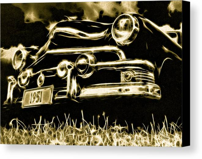 51 Ford Canvas Print featuring the photograph 1951 Ford V8 Convertible by Phil 'motography' Clark