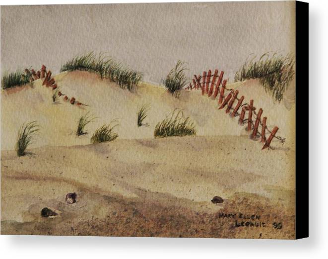 Sand Canvas Print featuring the painting Dunes by Mary Ellen Mueller Legault