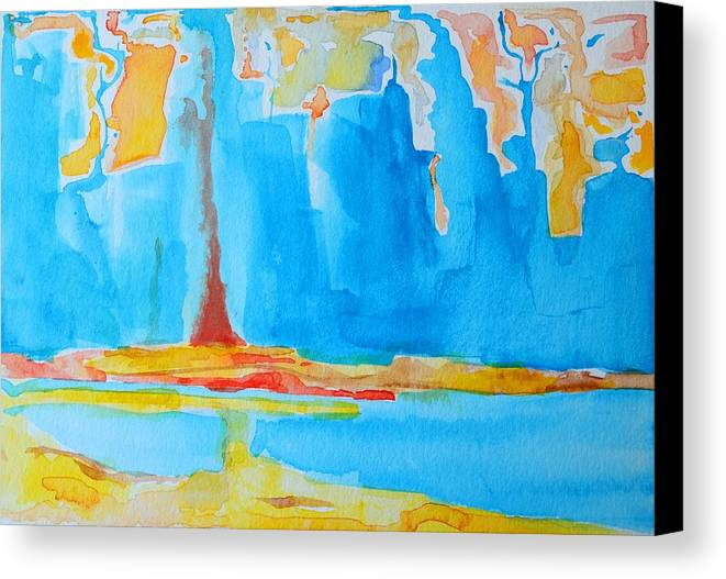 Abstract Watercolor Canvas Print featuring the painting Abstract II by Patricia Awapara