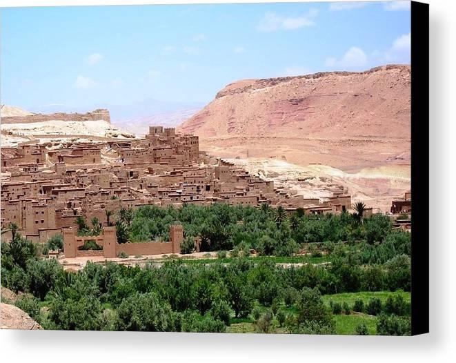 Morocco Canvas Print featuring the photograph Ait Ben Haddou 2 by Teresa Ruiz