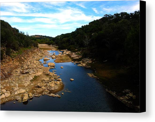 River Canvas Print featuring the photograph Almost Dried by Ricardo Oliveira