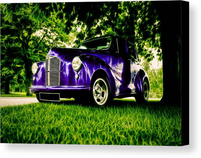 British Hot Rod Canvas Print featuring the photograph Austin Hot Rod by motography aka Phil Clark