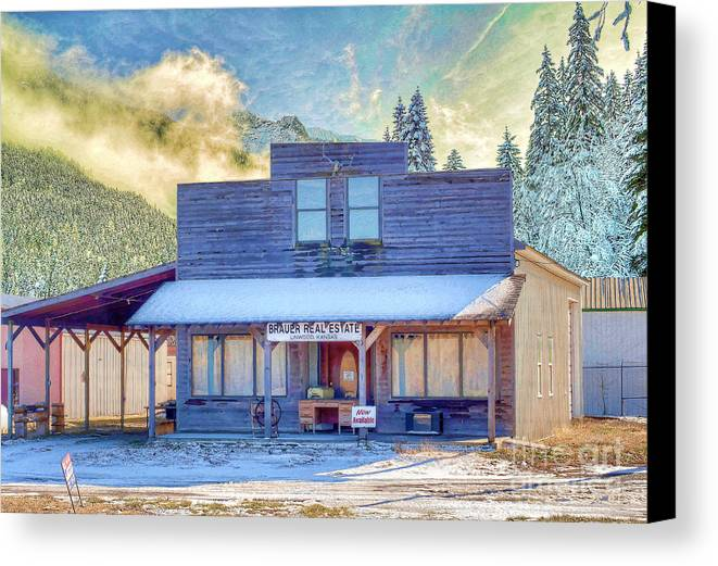 Brauer Real Estate Canvas Print featuring the photograph Brauer Real Estate Linwood Kansas by Liane Wright