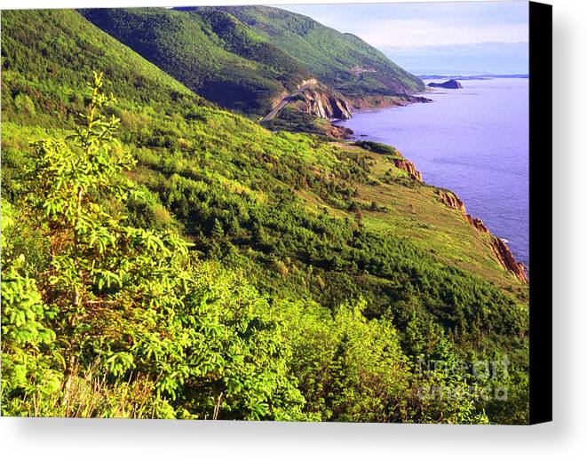 Canada Canvas Print featuring the photograph Cape Breton Highlands National Park by Thomas R Fletcher