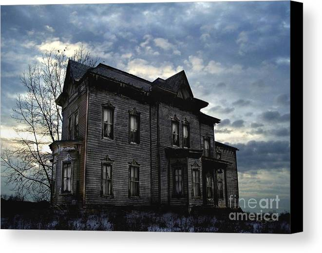 Old House Canvas Print featuring the digital art Dark Ruttle County by Tom Straub
