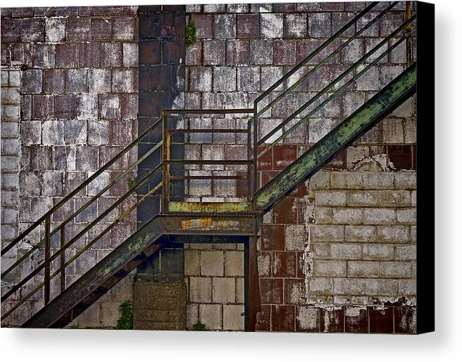 Diagonal Stairs Canvas Print featuring the photograph Diagonal Stairs by Murray Bloom