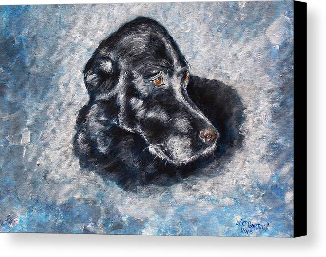 Dog Canvas Print featuring the painting Dizzy by Walter Carrick