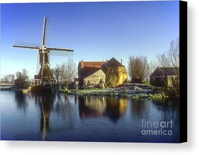 Dutch Windmill Canvas Print featuring the photograph Dutch Windmill by Bob Phillips