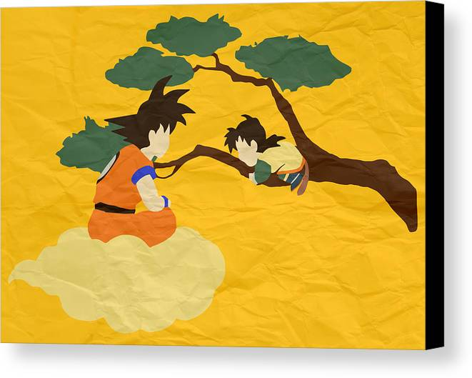 Goku Canvas Print featuring the digital art Father And Son by Danilo Caro