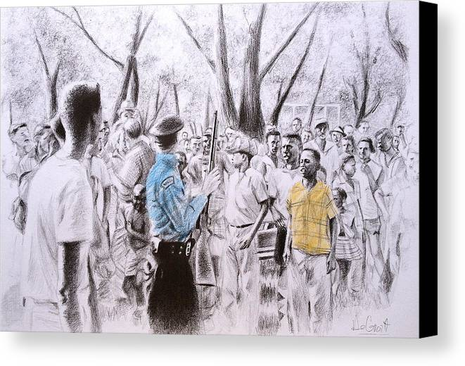 Child Canvas Print featuring the drawing Future Leader by Gregory DeGroat