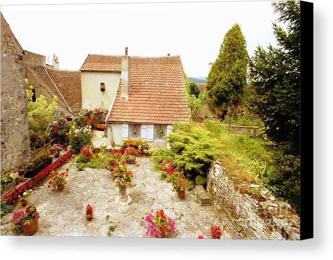 Germany Canvas Print featuring the photograph German Cottage Color by Ted Pollard